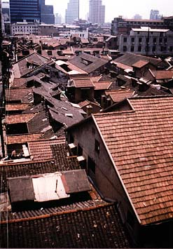 View over a hutong