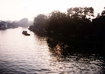 SZ canal at sunset.